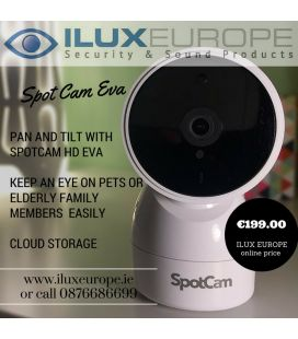 SpotCam EVA 720P Cloud Based WiFi Security Pan-Tilt Camera With Free 24 Hour Cloud Storage